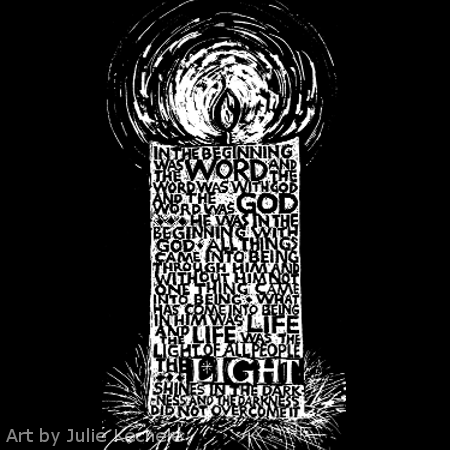 light in the darkness candle black and white art
